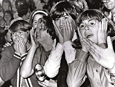Girls screaming for the Beatles
