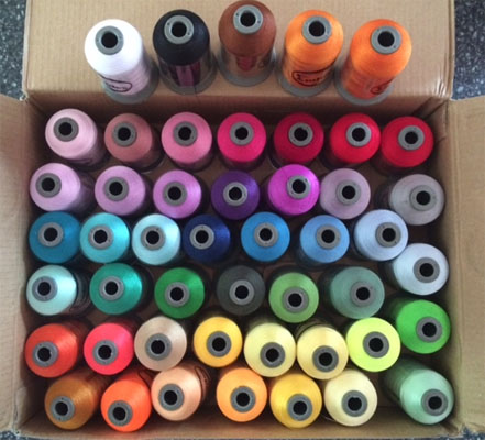 Embroidex 48 spool set of machine embroidery thread
